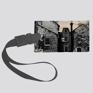 vintage church street light Large Luggage Tag