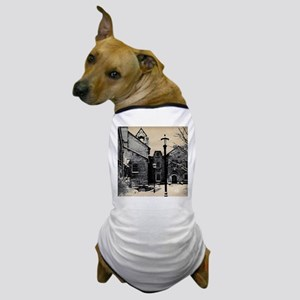 vintage church street light Dog T-Shirt