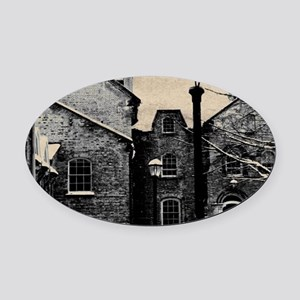 vintage church street light Oval Car Magnet
