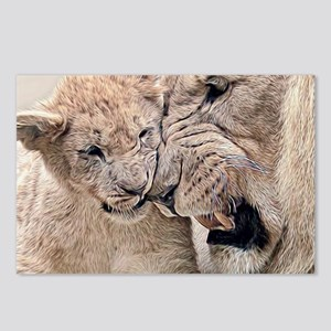 Gambling Lions Postcards (Package of 8)