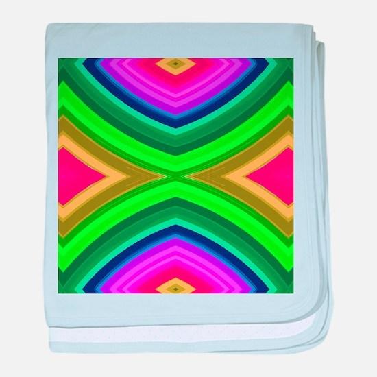 girly rainbow geometric pattern baby blanket