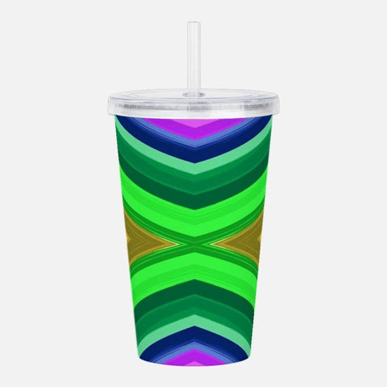 girly rainbow geometri Acrylic Double-wall Tumbler