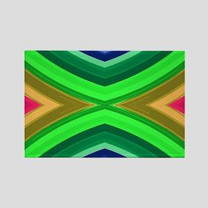 girly rainbow geometric pattern Magnets