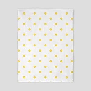Yellow, Canary: Polka Dots Pattern (Sma Twin Duvet