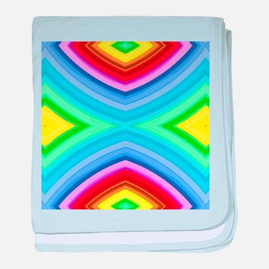 neon rainbow geometric pattern hipste baby blanket