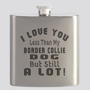 Border Collie Dogs Designs Flask