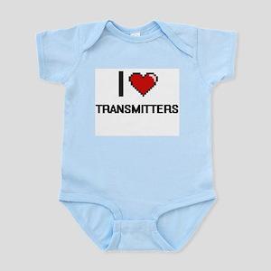 I love Transmitters digital design Body Suit