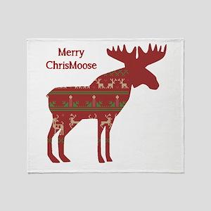 Fun Christmas Moose in Sweater Design Chrismoose h