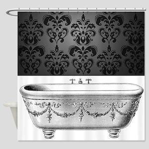 Antique Clawfoot Bathtub Shower Curtain