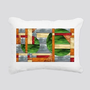 Craftsman Style Abstract Rectangular Canvas Pillow