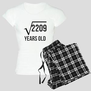 47 Years Old Square Root Pajamas