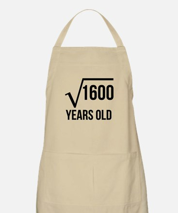 40 Years Old Square Root Apron