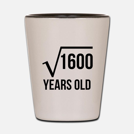 40 Years Old Square Root Shot Glass