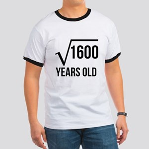 40 Years Old Square Root T-Shirt