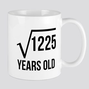 35 Years Old Square Root Mugs