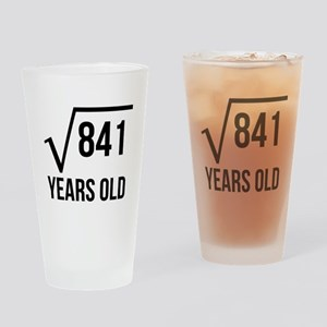 29 Years Old Square Root Drinking Glass