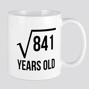 29 Years Old Square Root Mugs