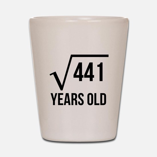 21 Years Old Square Root Shot Glass