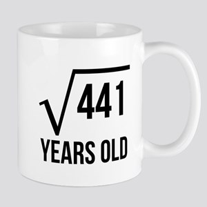 21 Years Old Square Root Mugs