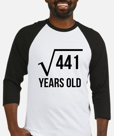 21 Years Old Square Root Baseball Jersey