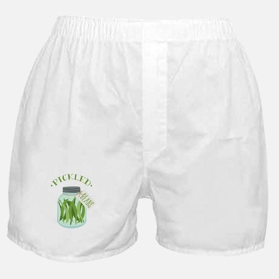 Pickled Green Beans Jar Boxer Shorts