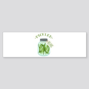 Pickled Green Beans Jar Bumper Sticker