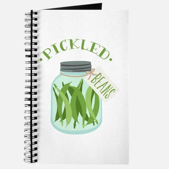 Pickled Green Beans Jar Journal