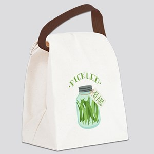 Pickled Green Beans Jar Canvas Lunch Bag