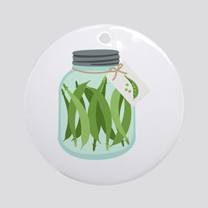 Pickled Green Beans Round Ornament