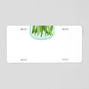 Pickled Green Beans Aluminum License Plate