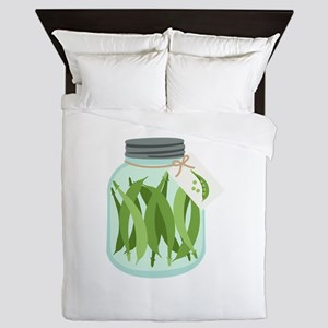 Pickled Green Beans Queen Duvet