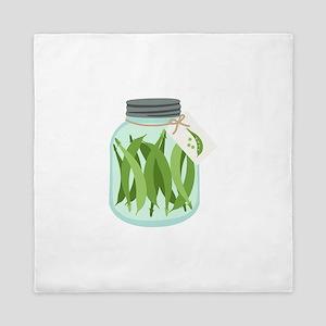 Pickled Green Beans Queen Duvet