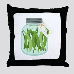 Pickled Green Beans Throw Pillow