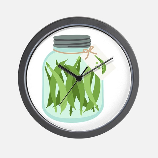 Pickled Green Beans Wall Clock