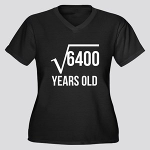80 Years Old Square Root Plus Size T-Shirt