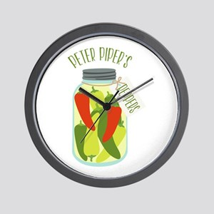 Peter Pipers Peppers Wall Clock