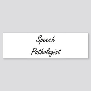 Speech Pathologist Artistic Job Des Bumper Sticker
