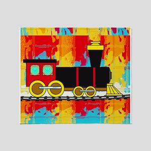 Fun Locomotive Choo Choo Train Throw Blanket