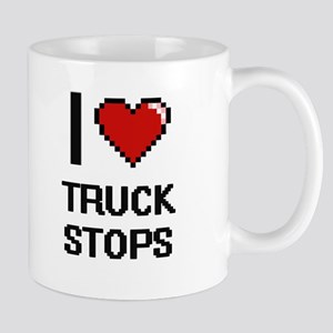 I love Truck Stops digital design Mugs