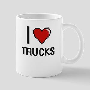 I love Trucks digital design Mugs
