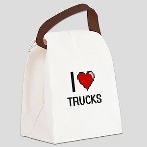 I love Trucks digital design Canvas Lunch Bag