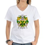 Cabrales Family Crest Women's V-Neck T-Shirt