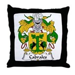 Cabrales Family Crest Throw Pillow