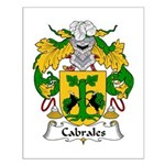Cabrales Family Crest Small Poster