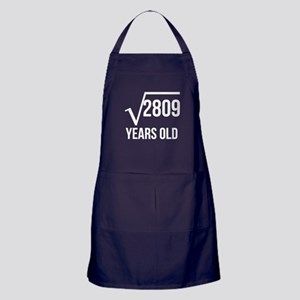 53 Years Old Square Root Apron (dark)