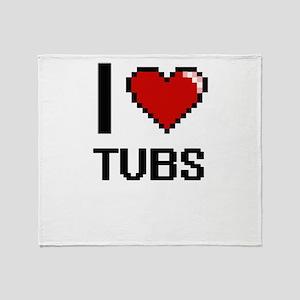 I love Tubs digital design Throw Blanket
