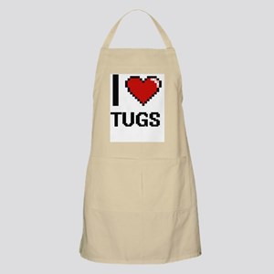 I love Tugs digital design Apron