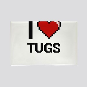 I love Tugs digital design Magnets