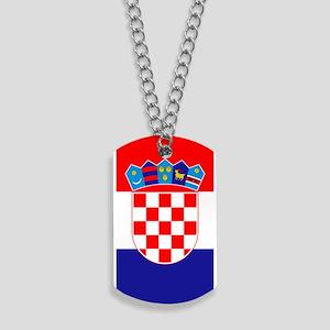 Croatia Flag Dog Tags
