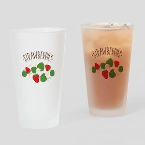 Strawberries Drinking Glass